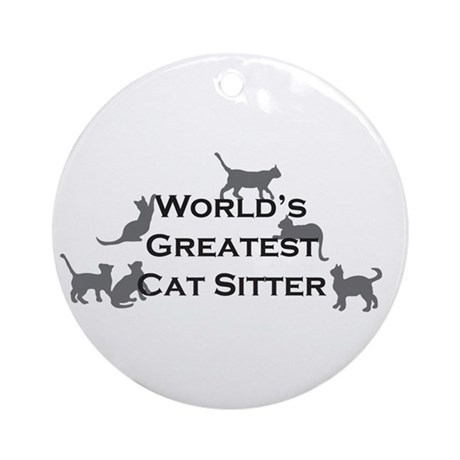 World's Greatest Cat Sitter Ornament (Round)
