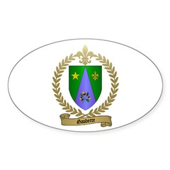 GAUDETTE Family Crest Oval Decal