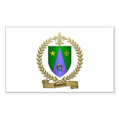 GAUDETTE Family Crest Rectangle Decal