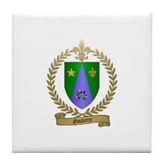 GAUDETTE Family Crest Tile Coaster