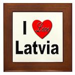 I Love Latvia Framed Tile