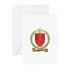GAUTEROT Family Crest Greeting Cards (Pk of 10