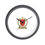 GAUTEROT Family Crest Wall Clock
