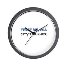 Trust Me I'm a City Planner Wall Clock