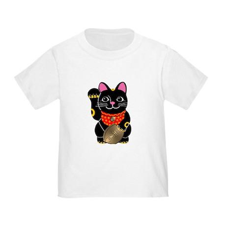 Black Maneki Neko Toddler T-Shirt