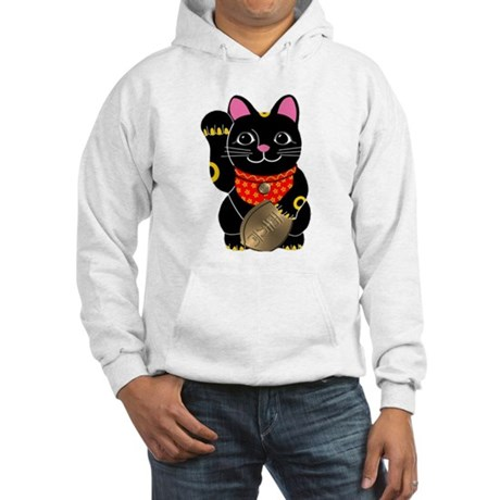 Black Maneki Neko Hooded Sweatshirt