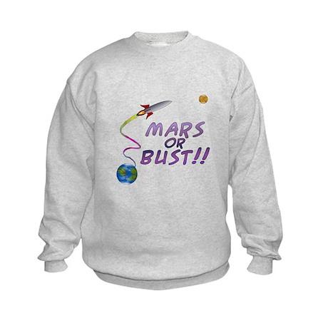 Mars or Bust! Kids Sweatshirt