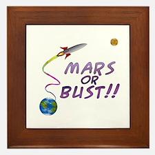 Mars or Bust! Framed Tile