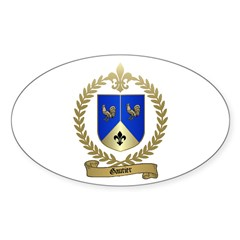 GAUTIER Family Crest Oval Decal