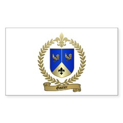GAUTIER Family Crest Rectangle Decal
