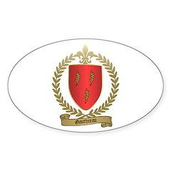 GAUTHREAU Family Crest Oval Decal