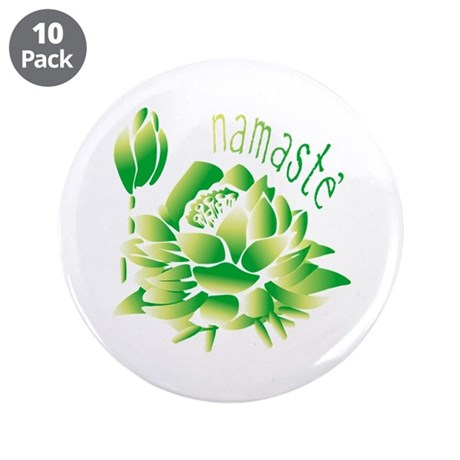 "Go Green Lotus 3.5"" Button (10 pack)"