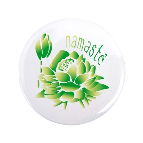"Go Green Lotus 3.5"" Button"