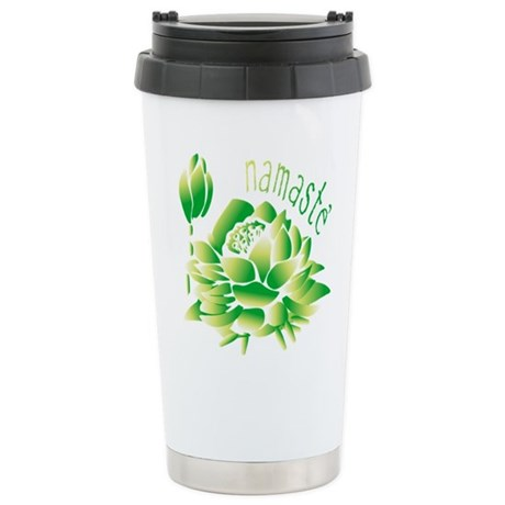 Go Green Lotus Stainless Steel Travel Mug