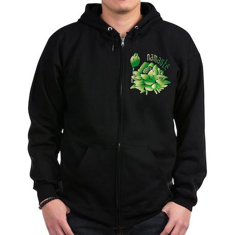 Go Green Lotus Zip Hoodie (dark)