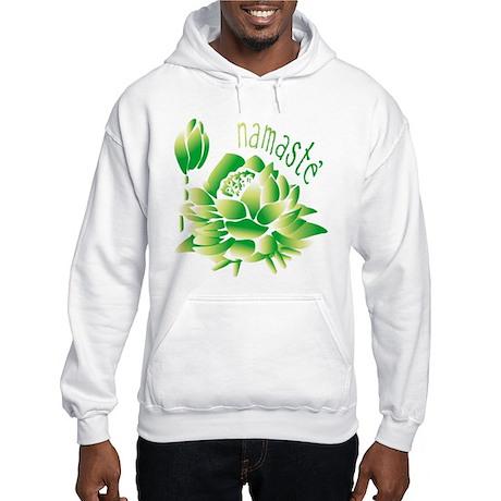 Go Green Lotus Hooded Sweatshirt