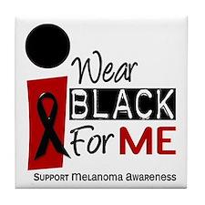 I Wear Black For Me 9 Tile Coaster