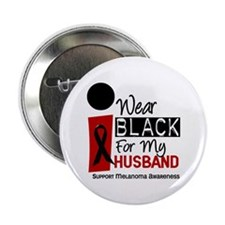 "I Wear Black For My Husband 9 2.25"" Button"