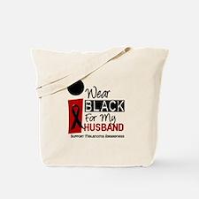 I Wear Black For My Husband 9 Tote Bag