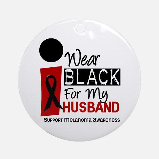 I Wear Black For My Husband 9 Ornament (Round)