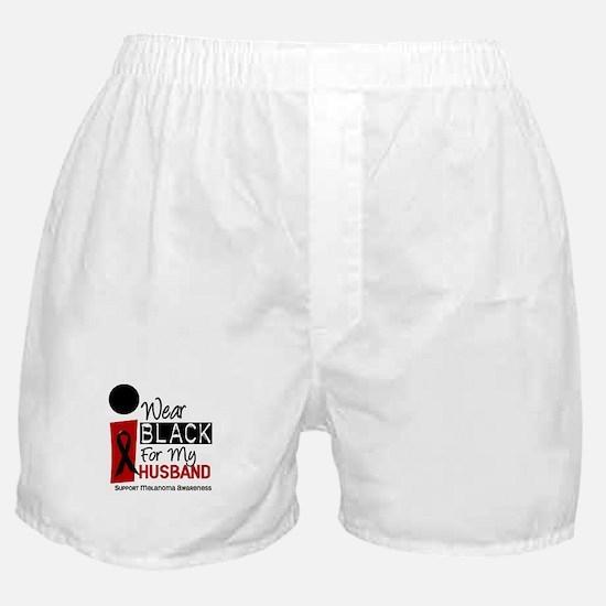 I Wear Black For My Husband 9 Boxer Shorts