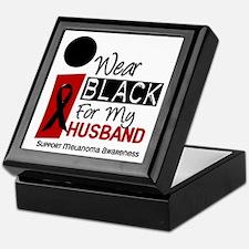 I Wear Black For My Husband 9 Keepsake Box