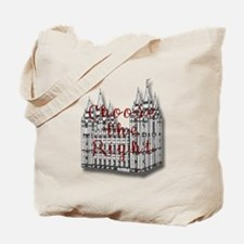 Temple Choose the Right Tote Bag