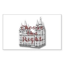 Temple Choose the Right Rectangle Sticker 50 pk)