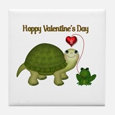 Hoppy Valentine's Tile Coaster
