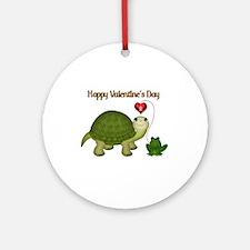Hoppy Valentine's Ornament (Round)
