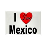 I Love Mexico Rectangle Magnet (10 pack)