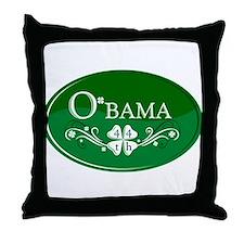 ::: Irish O'bama 44th President ::: Throw Pillow