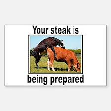 Steak Rectangle Decal