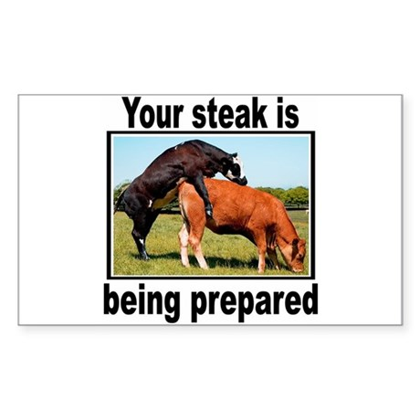 Steak Rectangle Sticker