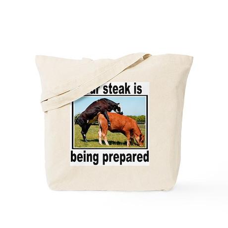 Steak Tote Bag