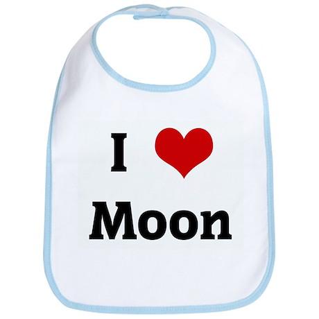 I Love Moon Bib