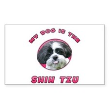My Dog is the Shih Tzu Rectangle Decal