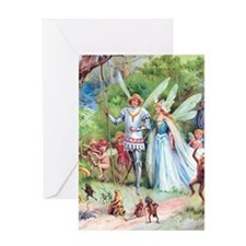 THE MARRIAGE OF THUMBELINA Greeting Card