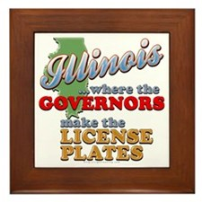 Corrupt Illinois Framed Tile