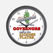Corrupt Illinois Wall Clock