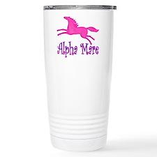 Alpha Mare. Pink Horse Travel Mug
