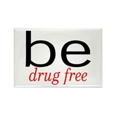 Be Drug Free Rectangle Magnet