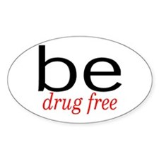 Be Drug Free Oval Decal