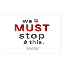 We Must Stop This (puppymills) Postcards (Package