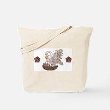 Royal Pelican Rose Tote Bag