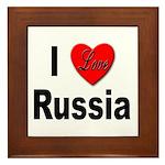 I Love Russia Framed Tile