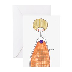 Orange candy Greeting Cards (Pk of 10)