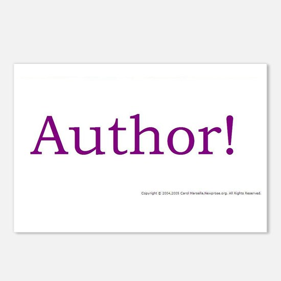 AUTHOR! Postcards (Package of 8)