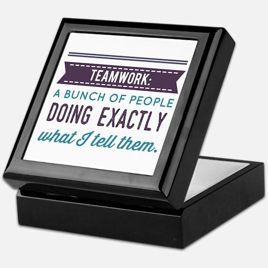 Teamwork: Keepsake Box