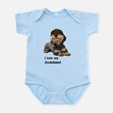 I Love My Dachshund Infant Bodysuit